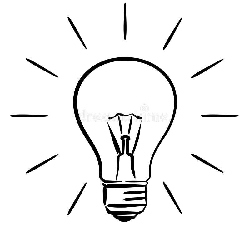 电灯泡例证光向量 向量例证