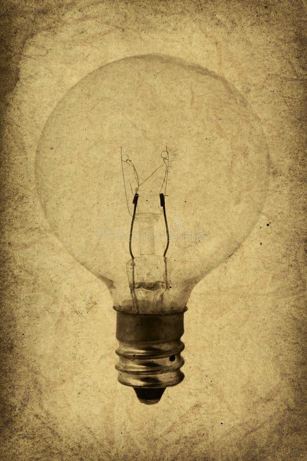 电灯泡例证光葡萄酒 库存例证