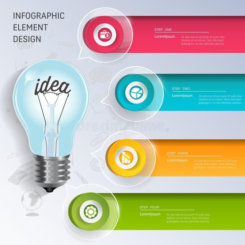 电灯泡信息图表模板概念 皇族释放例证