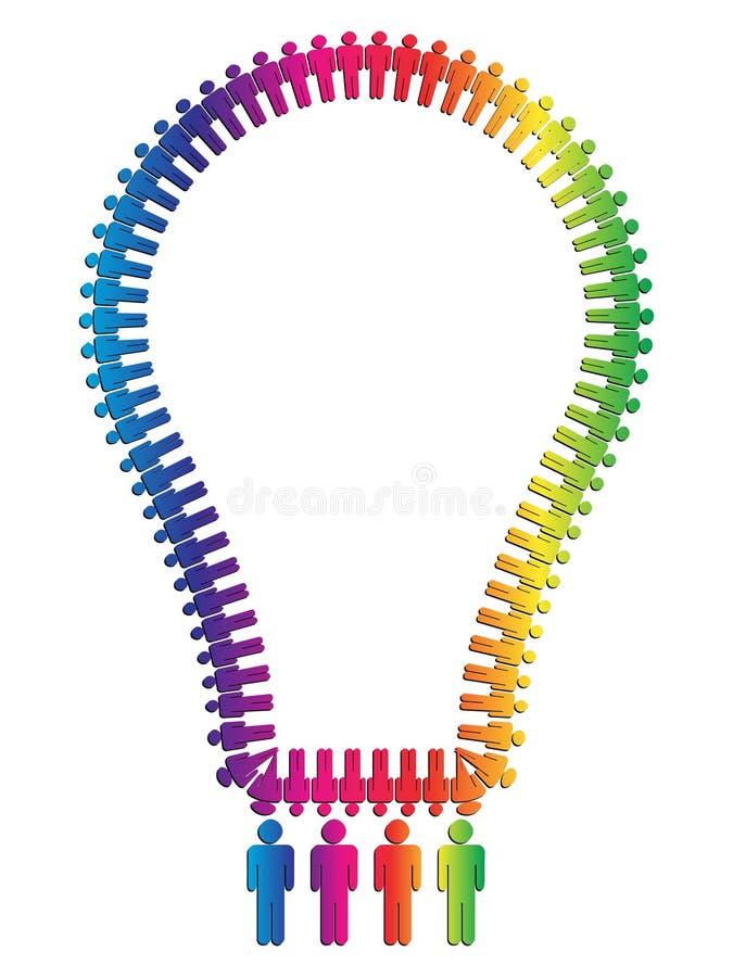 电灯泡做人 库存例证