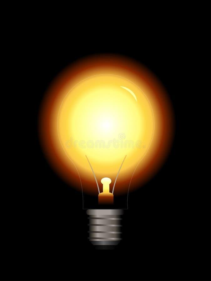 电灯泡光向量 向量例证