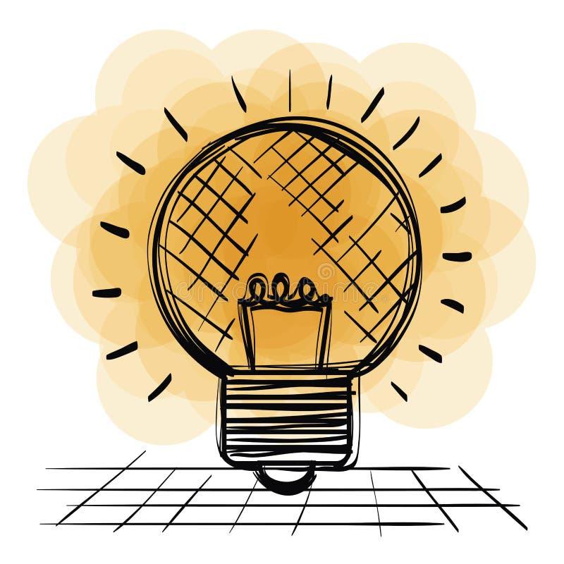 电灯泡光得出的象 皇族释放例证