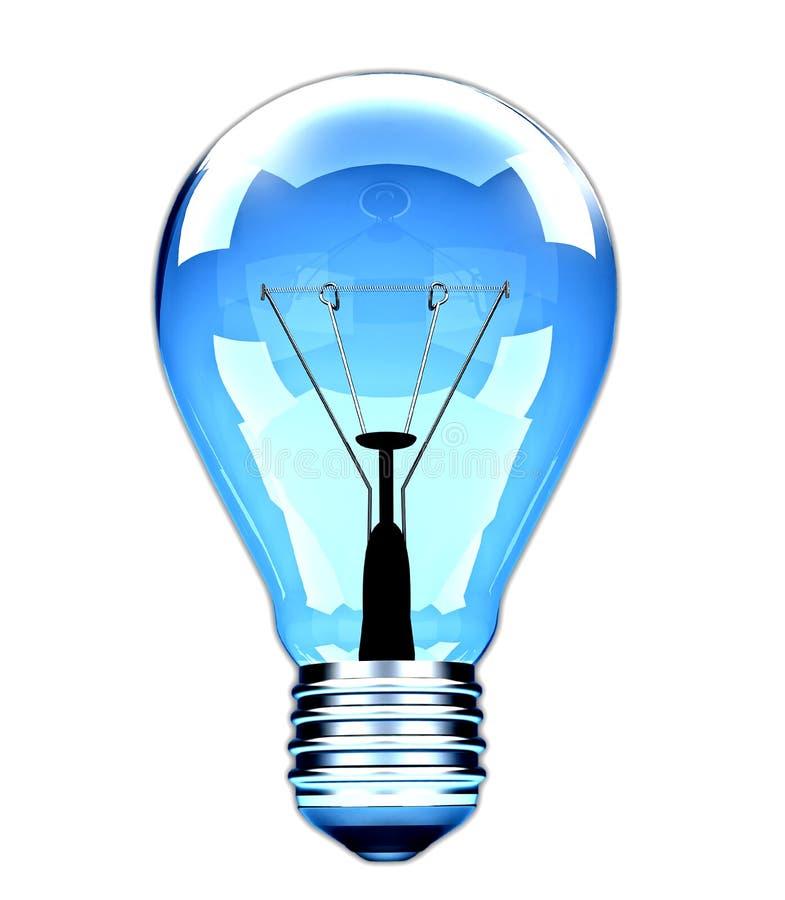 电灯泡光理想透明 库存例证