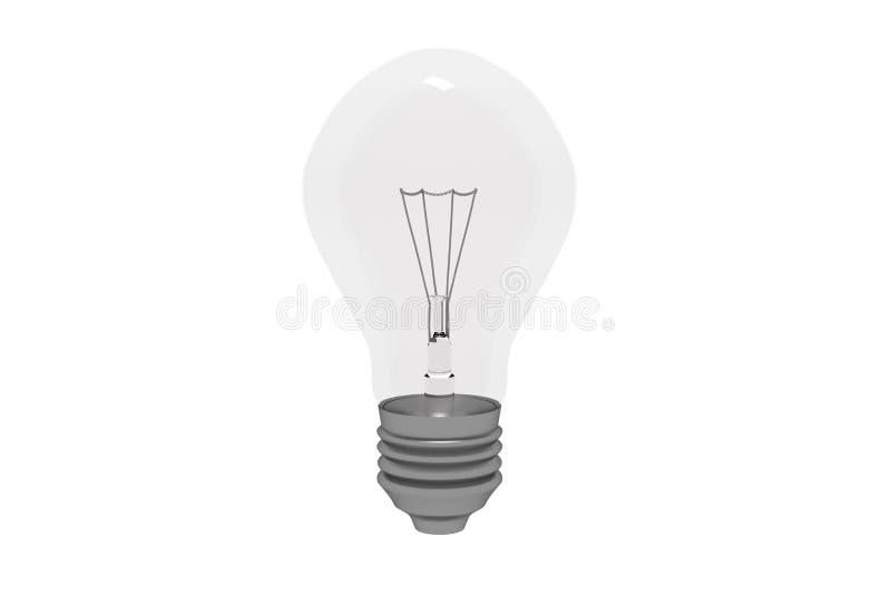 电灯泡光白色 皇族释放例证