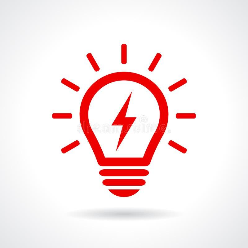 电灯泡光符号 向量例证