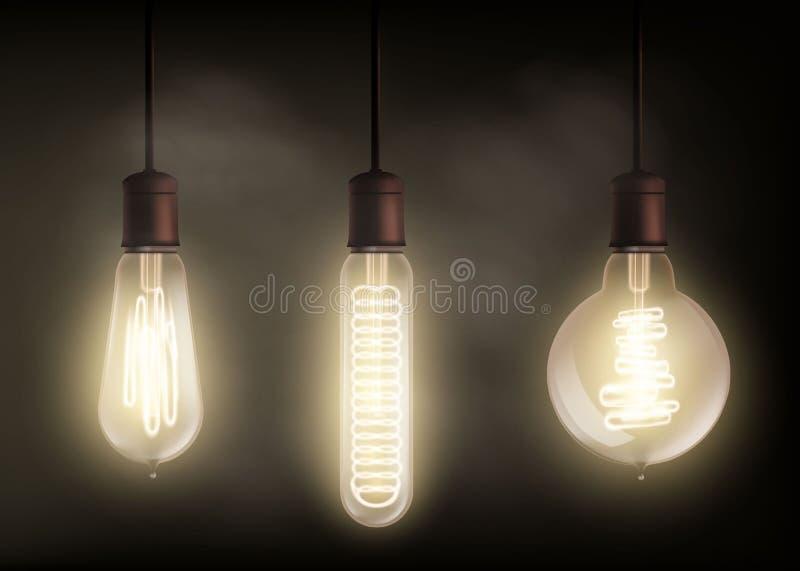 电灯泡光螺旋 库存例证