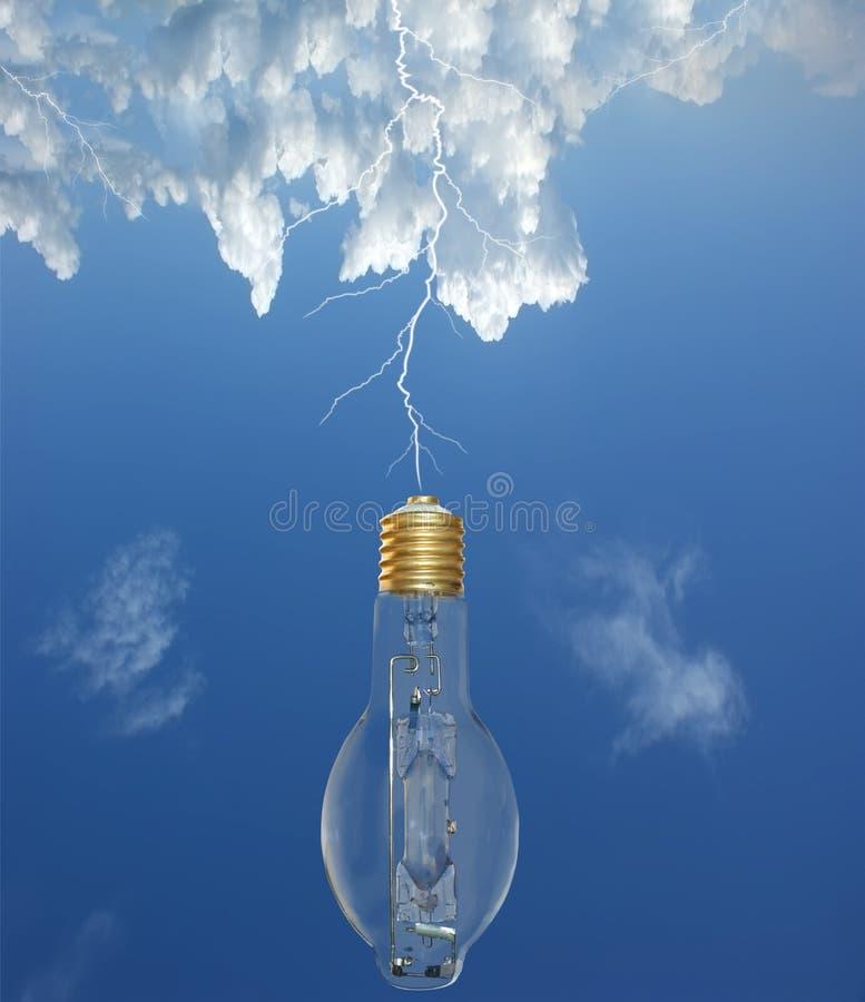 电灯泡光闪电 免版税图库摄影