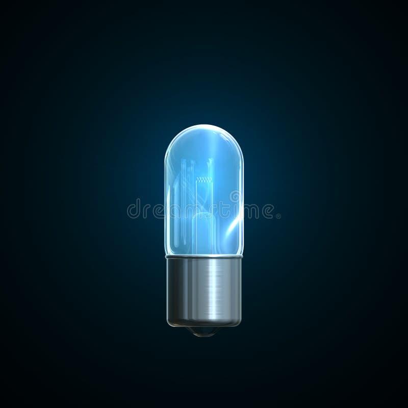 电灯泡光 皇族释放例证