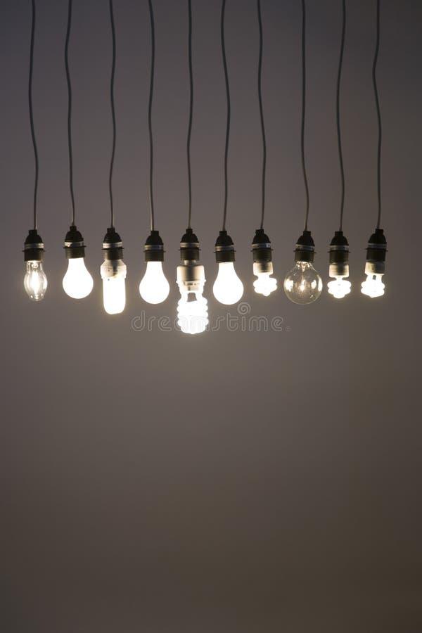 电灯泡光 库存图片