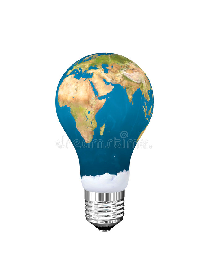 电灯泡光 向量例证