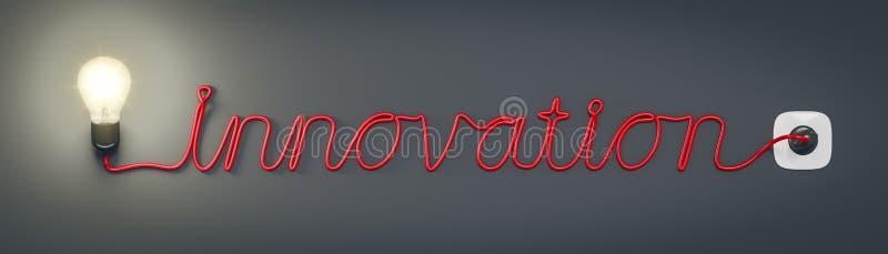 电灯泡创新 向量例证