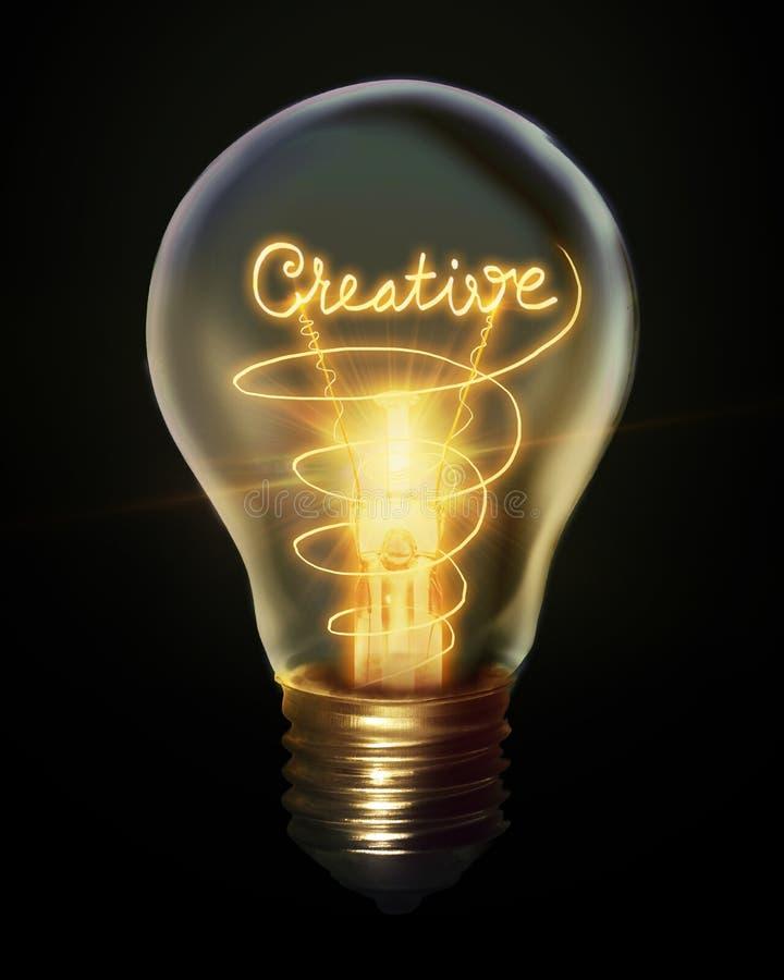 电灯泡创造性的光 库存例证