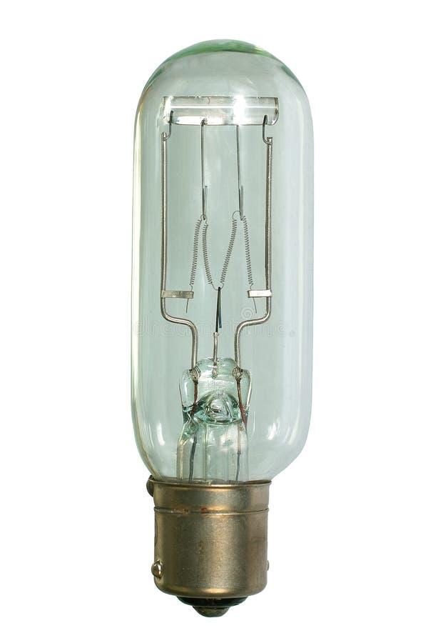 电灯泡前卤素放映机视图 库存图片