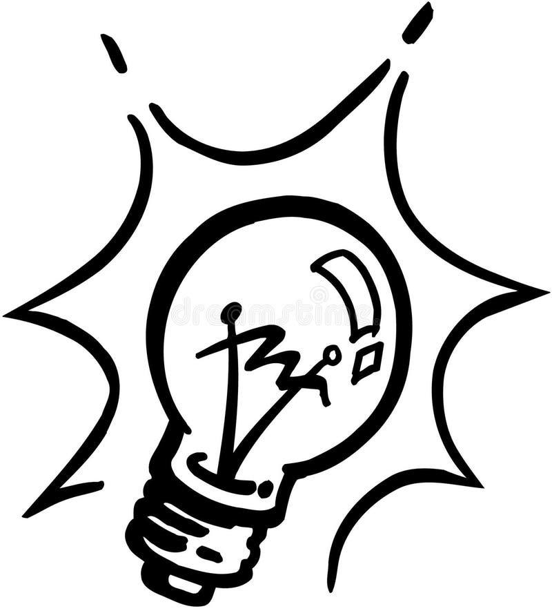 电灯泡动画片传染媒介Clipart 皇族释放例证