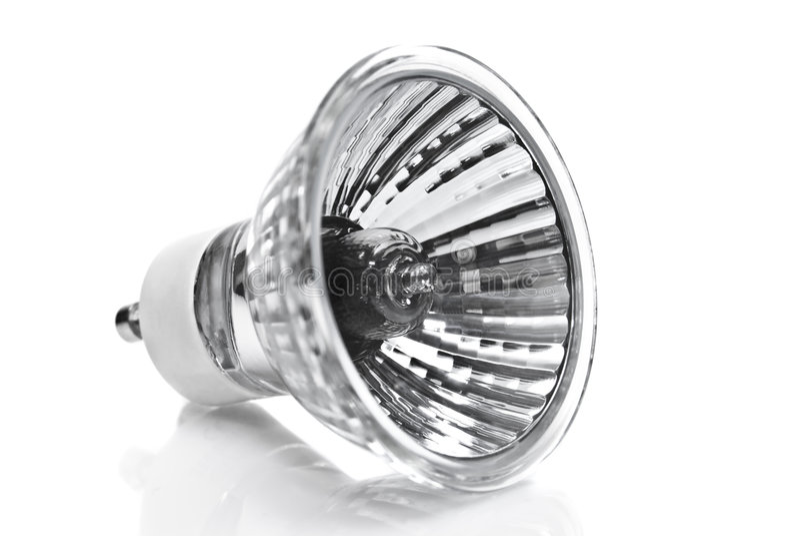 电灯泡卤素闪亮指示白色 图库摄影