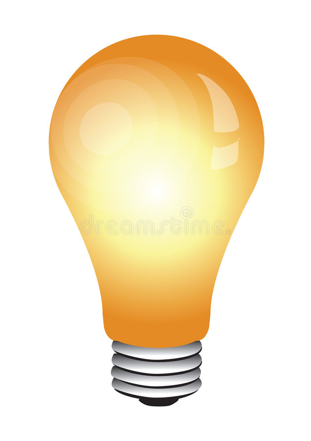 电灯泡发光 向量例证