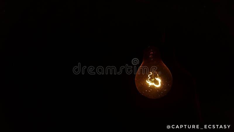 电灯泡发光 库存图片