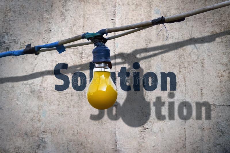 电灯泡和词解答 免版税库存图片