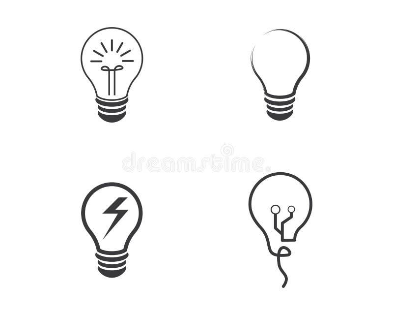 电灯泡商标传染媒介 向量例证