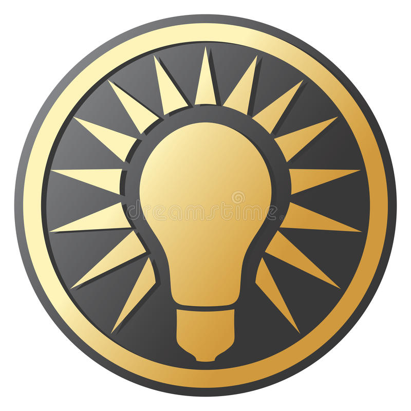 电灯泡图标光 向量例证