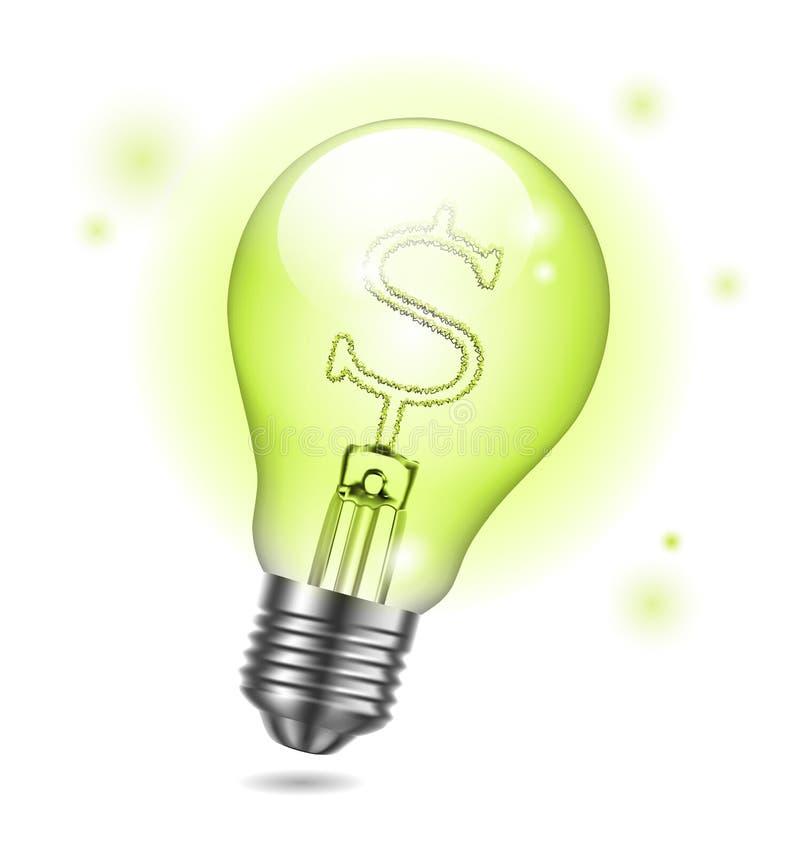电灯泡图标 皇族释放例证