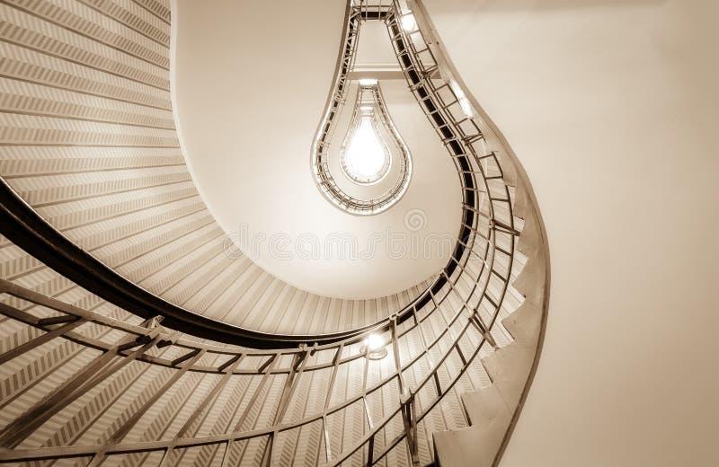 电灯泡在布拉格称呼了楼梯 库存照片