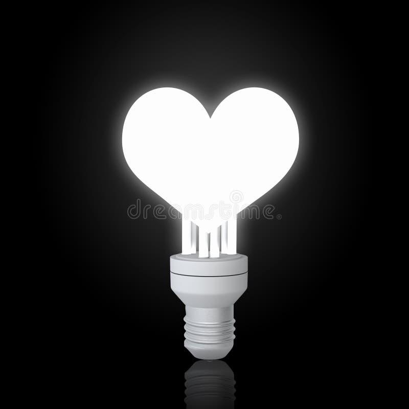 电灯泡在黑暗中 库存照片