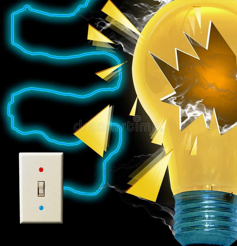电灯泡展开 免版税库存图片