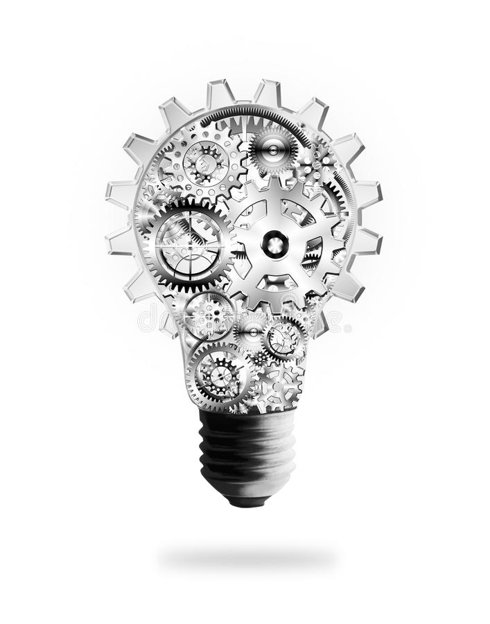 电灯泡嵌齿轮设计齿轮光 皇族释放例证