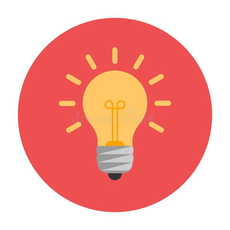 电灯泡平的象 向量例证