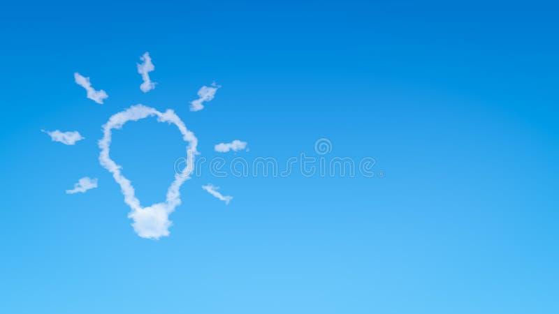 电灯泡形状云彩 向量例证