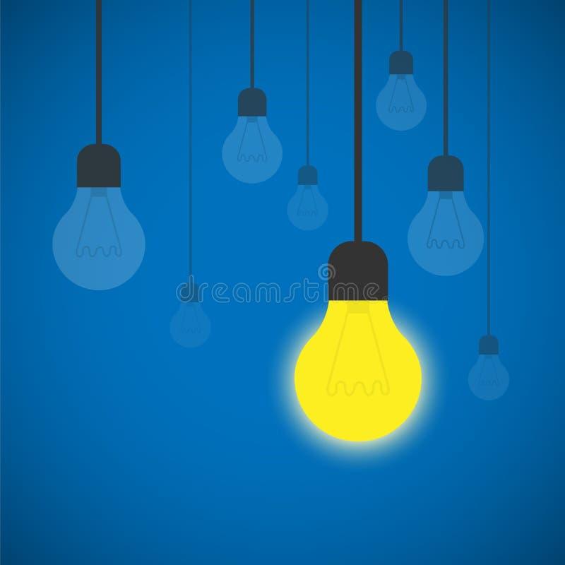 电灯泡想法传染媒介例证 向量例证