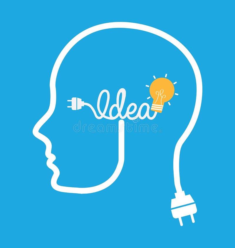 电灯泡想法设计 向量例证