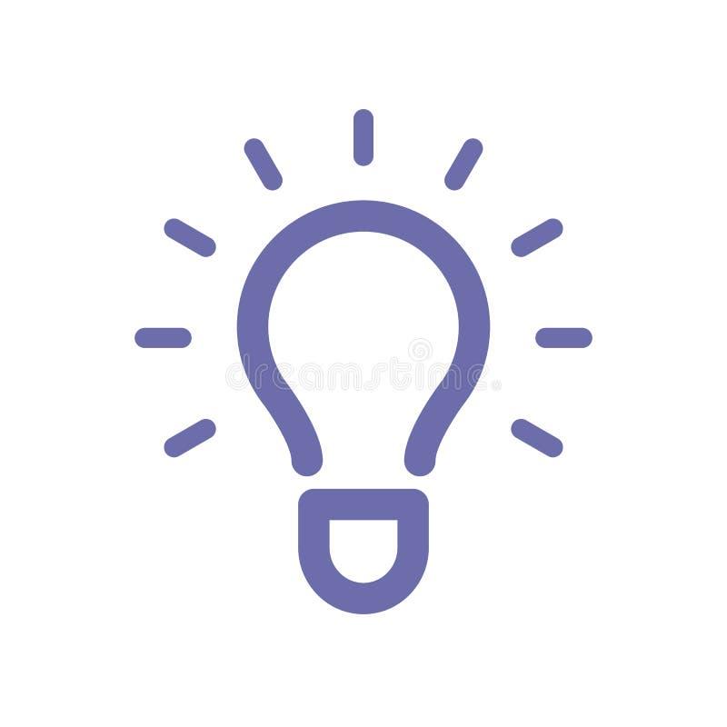 电灯泡想法象 向量例证