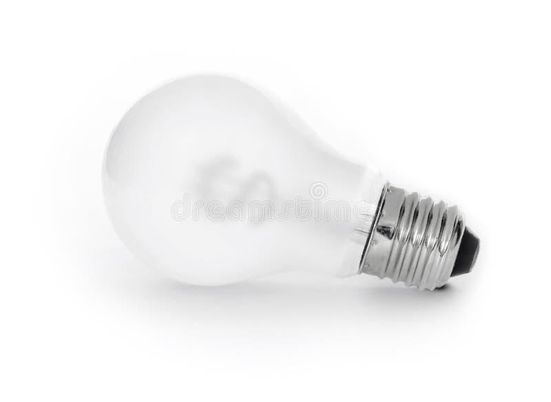 电灯泡想法货币 图库摄影