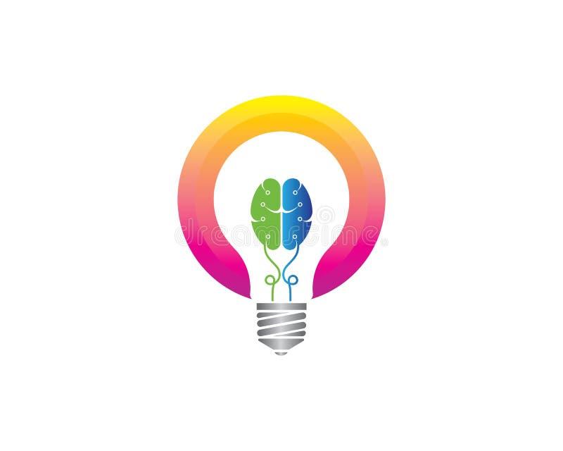 电灯泡想法,创造性,概念例证 库存例证