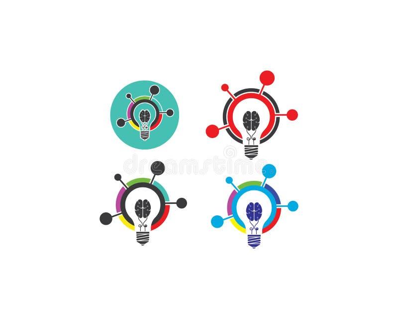 电灯泡想法,创造性,概念例证 向量例证