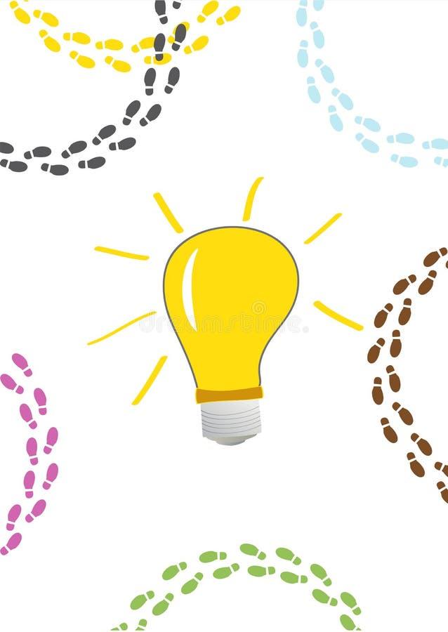 电灯泡想法 库存例证