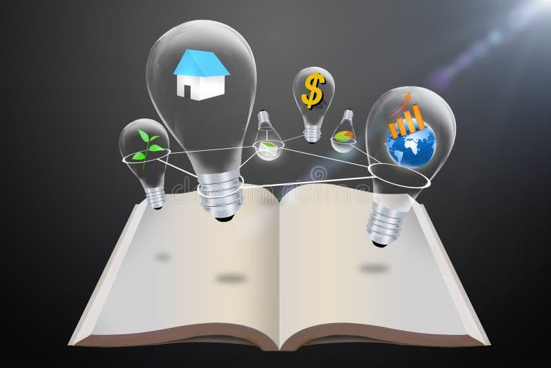 电灯泡想法 免版税库存照片