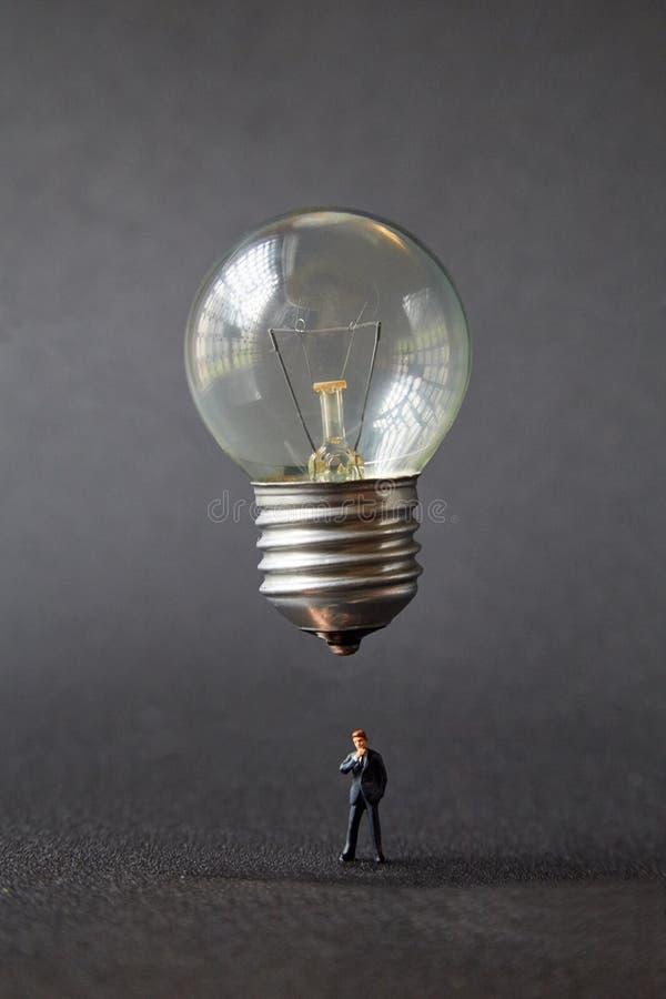 电灯泡想法 库存图片