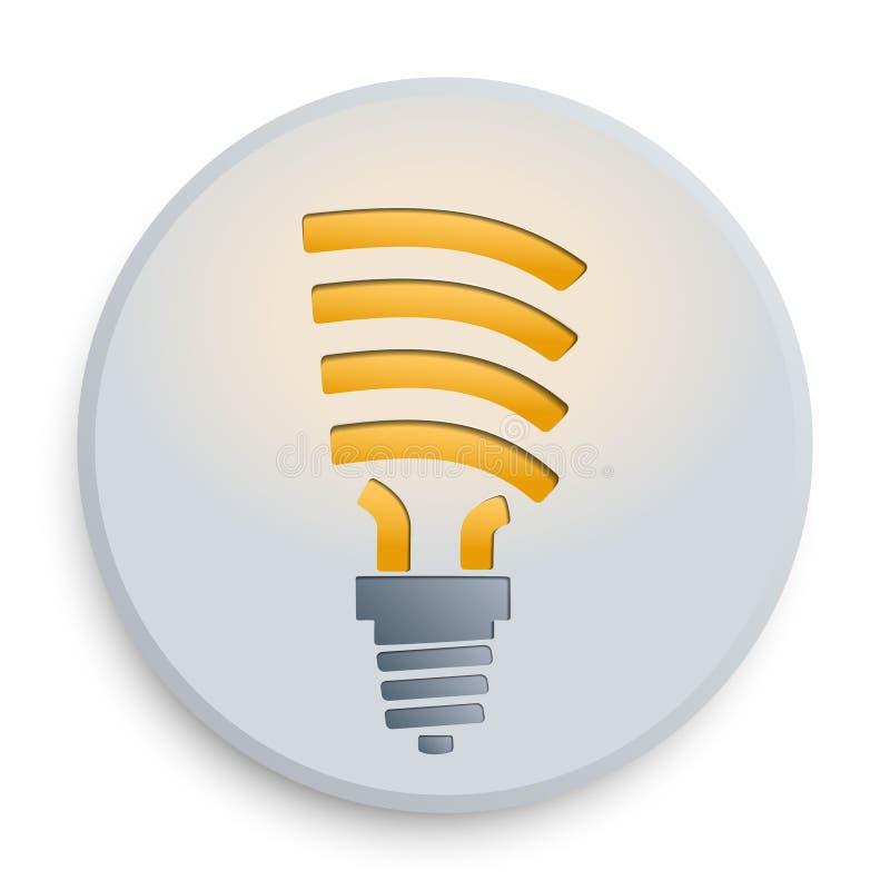 电灯泡按钮 库存例证
