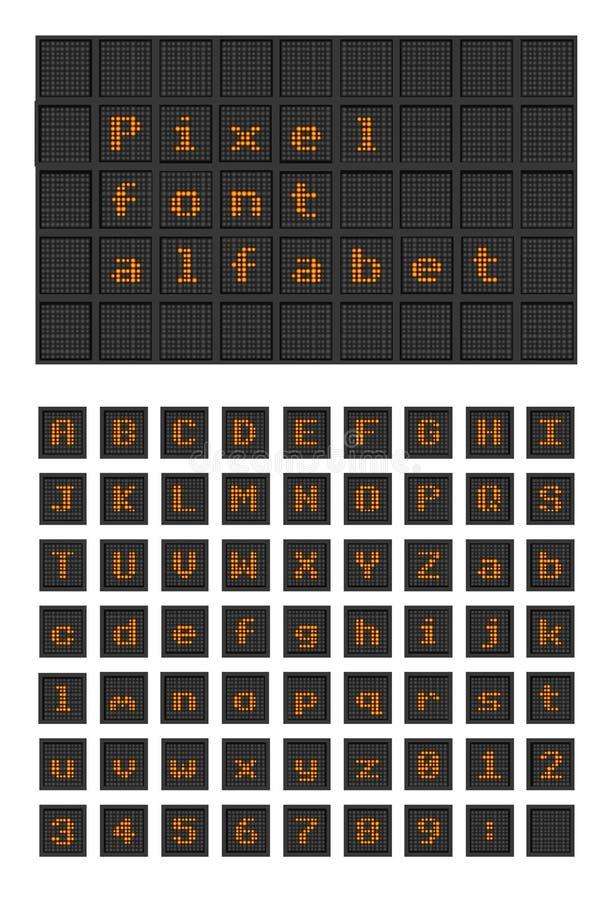 电灯泡映象点字体alfabet 向量例证