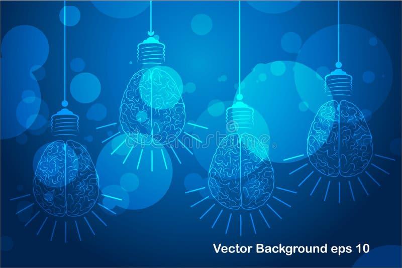 电灯泡未来技术,创新背景,创造性的想法概念,认为的概念 皇族释放例证
