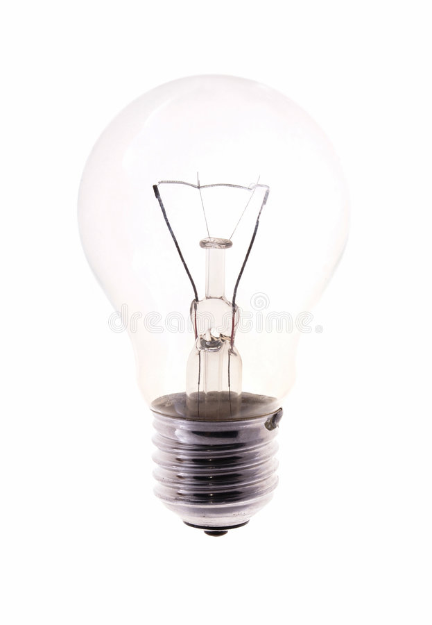 电灯泡查出的白色 免版税库存图片