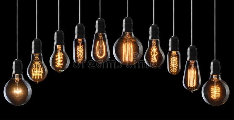 电灯泡查出的轻的白色 免版税库存图片