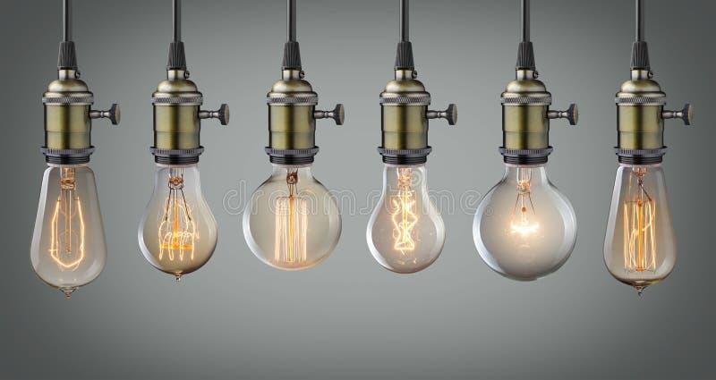 电灯泡查出的轻的白色 向量例证