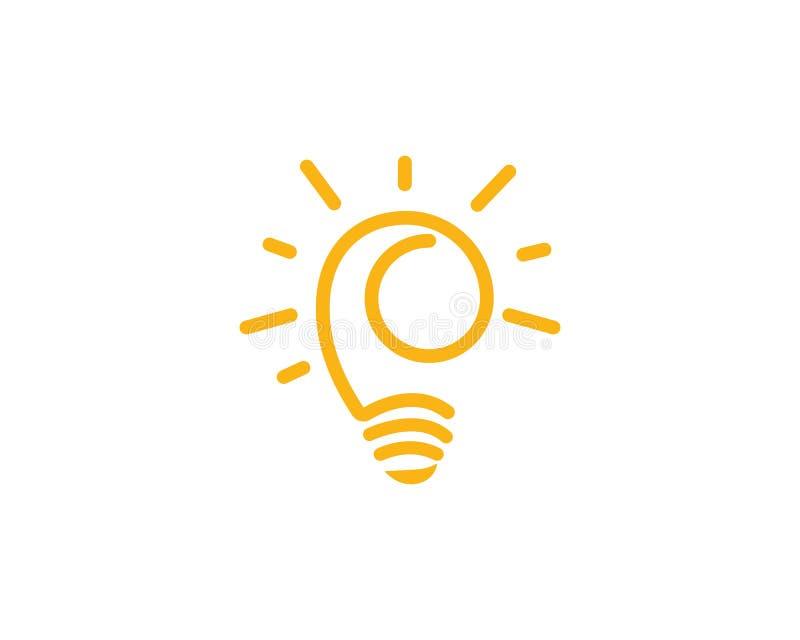 电灯泡标志象 向量例证