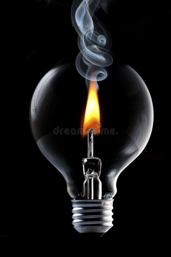 电灯泡框架光烟 库存照片