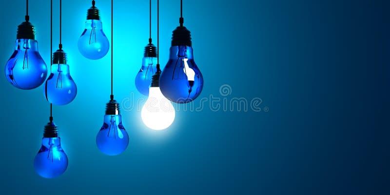 电灯泡概念创造性光 库存例证