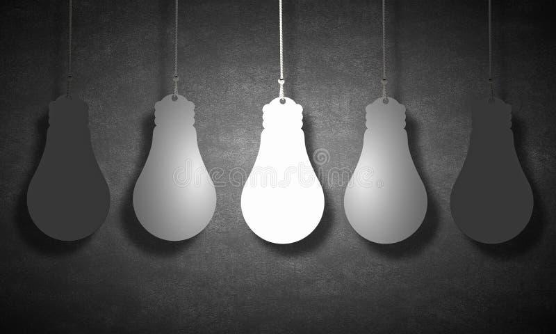 电灯泡概念想法例证光向量 向量例证